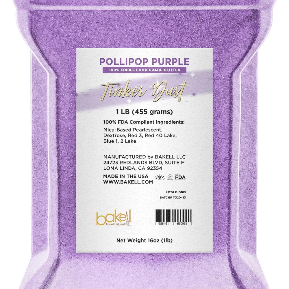 Pollipop Purple Tinker Dust Edible Glitter | Food Grade Glitter-Tinker Dust-Bakell