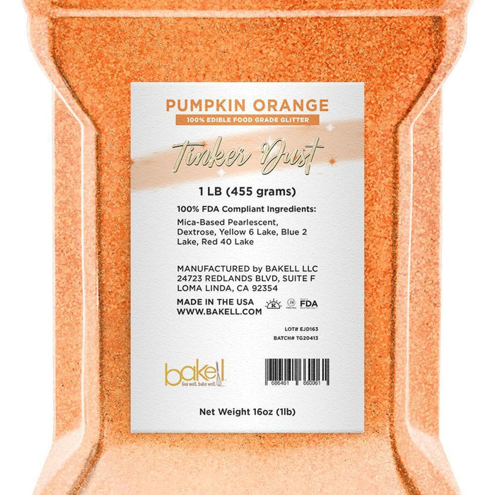 Pumpkin Orange Edible Tinker Dust | Bulk Sizes-Bulk_Tinker Dust-Bakell