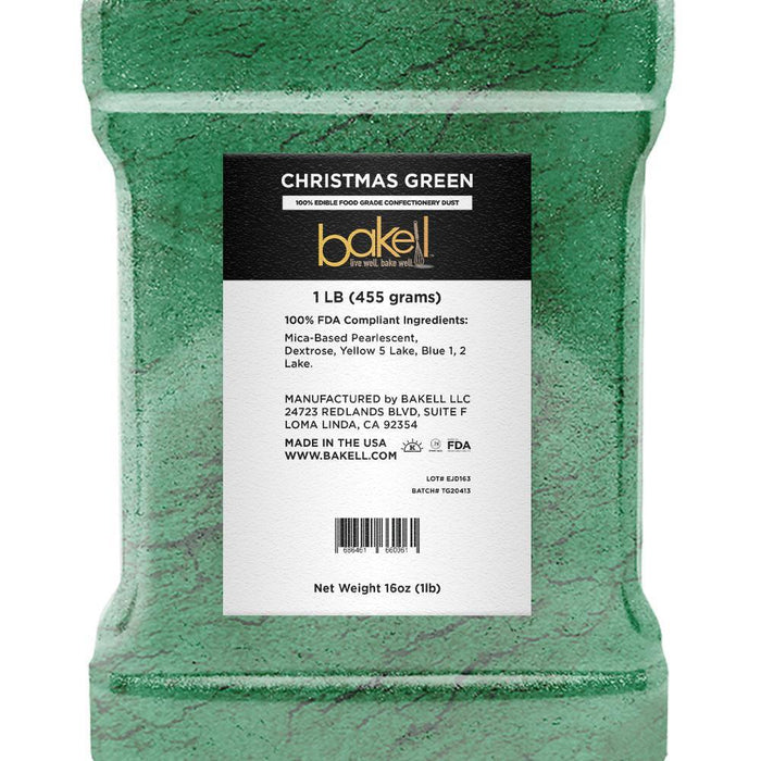 Christmas Green Edible Luster Dust | Bulk Sizes-Bulk_Luster Dust-Bakell