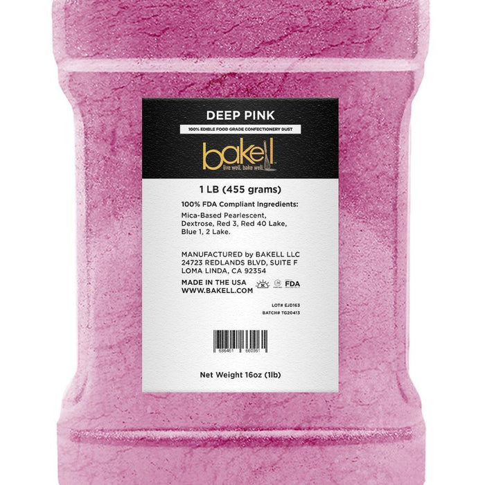 Deep Pink Edible Luster Dust-Luster Dusts-Bakell