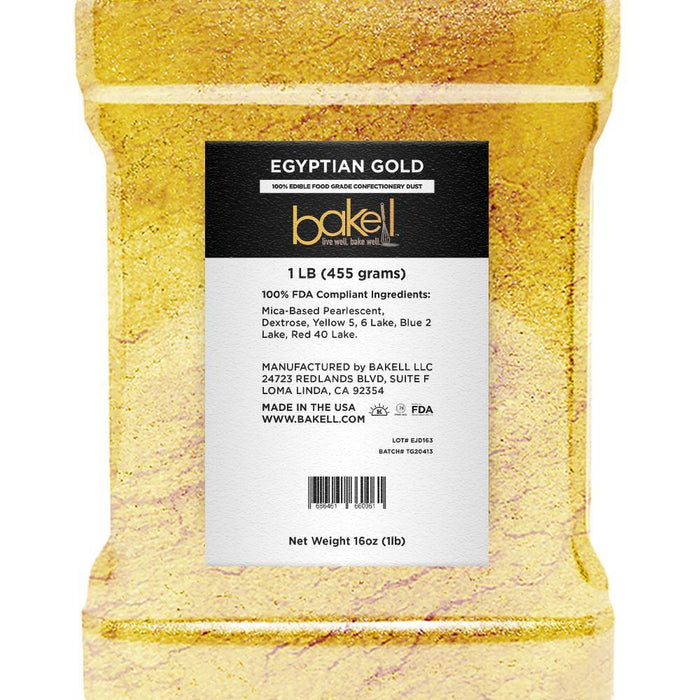 Egyptian Gold Pearlized Edible Luster Dust-Luster Dusts-Bakell