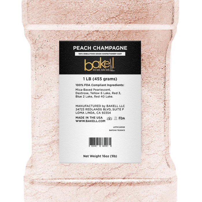 Peach Champagne Edible Luster Dust | Bulk Sizes-Bulk_Luster Dust-Bakell
