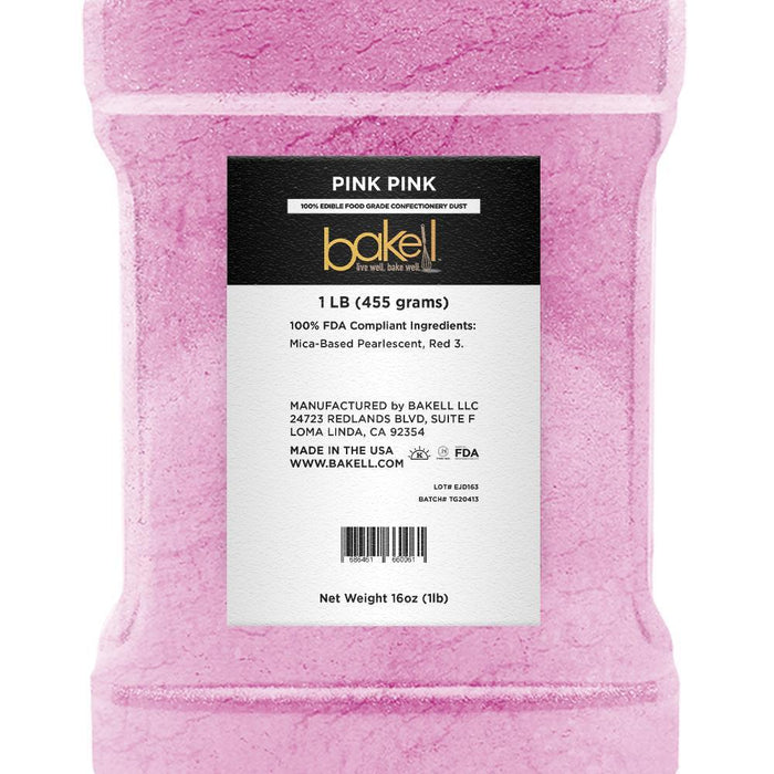 Pink Pink Edible Pearlized Luster Dust | Bulk Sizes-Bulk_Luster Dust-Bakell