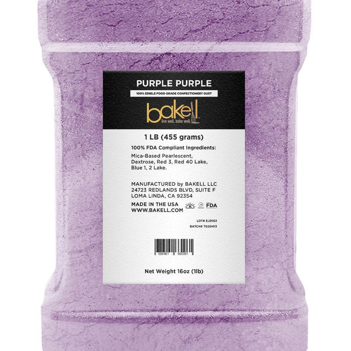 Purple Purple Edible Pearlized Luster Dust | Bulk Sizes-Bulk_Luster Dust-Bakell