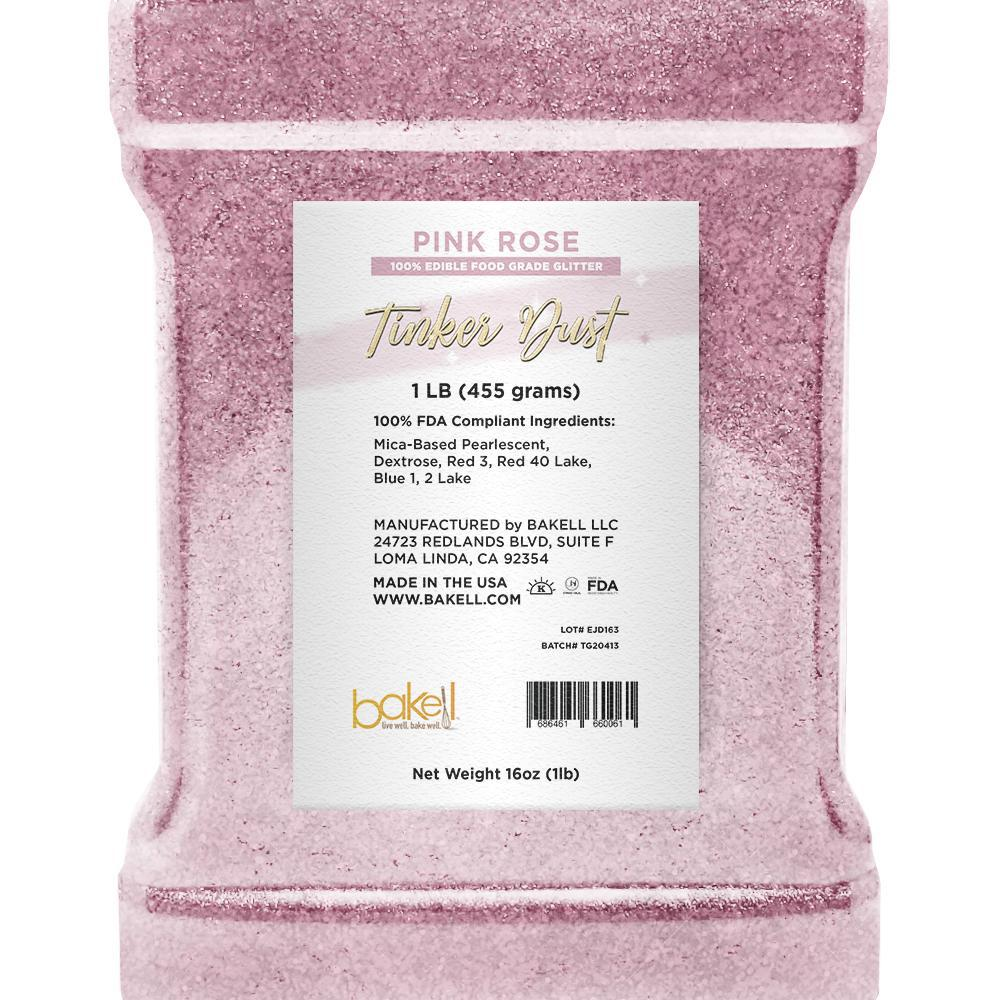 Pink Rose Tinker Dust Edible Glitter | Food Grade Glitter-Tinker Dust-Bakell