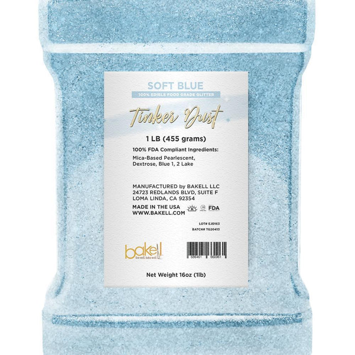 Soft Blue Tinker Dust Edible Glitter | Food Grade Glitter-Tinker Dust-Bakell
