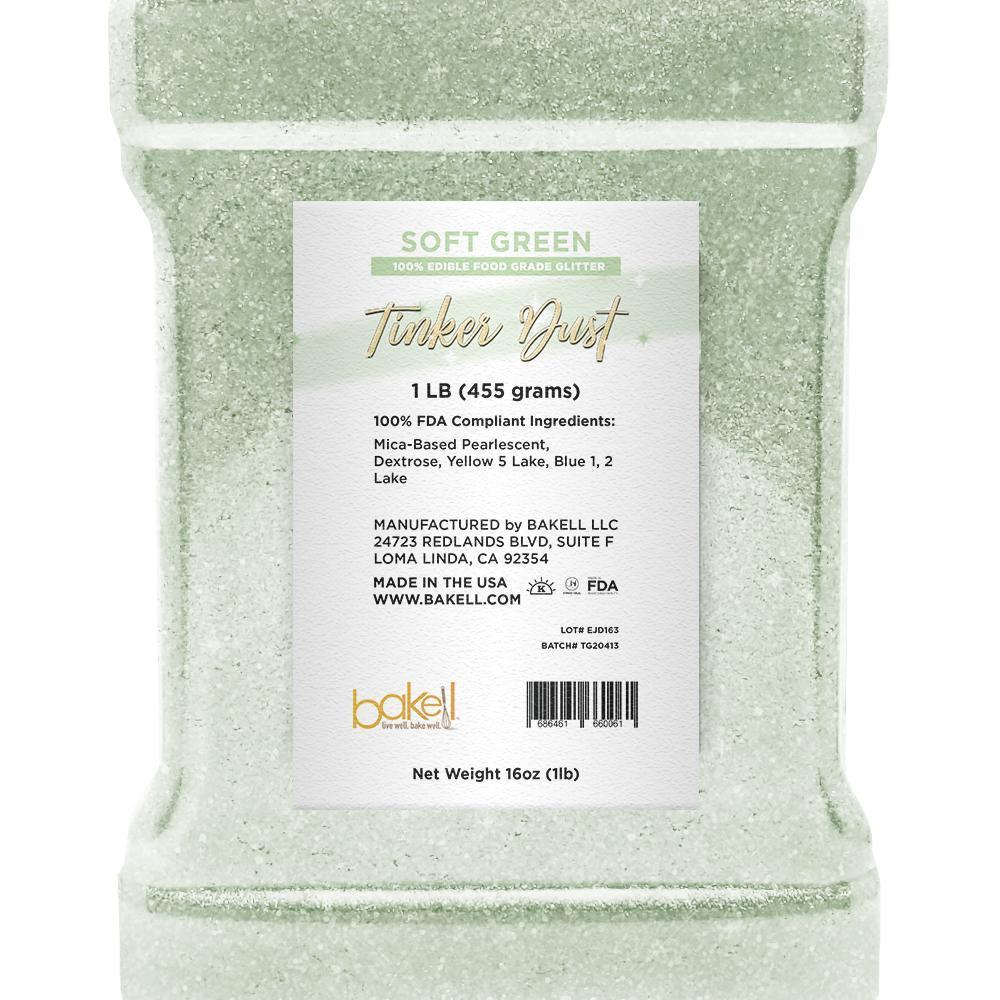 Soft Green Tinker Dust Edible Glitter | Food Grade Glitter-Tinker Dust-Bakell