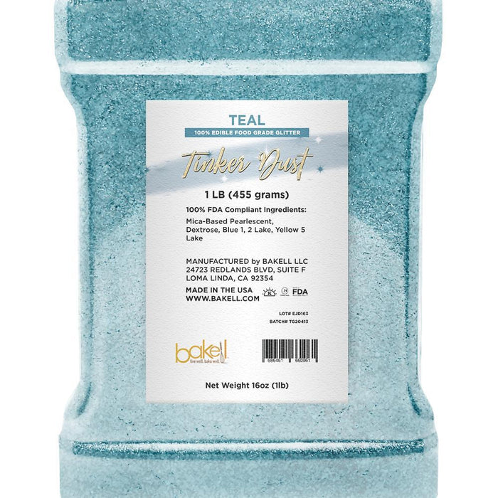 Teal Tinker Dust Edible Glitter | Food Grade Glitter-Tinker Dust-Bakell