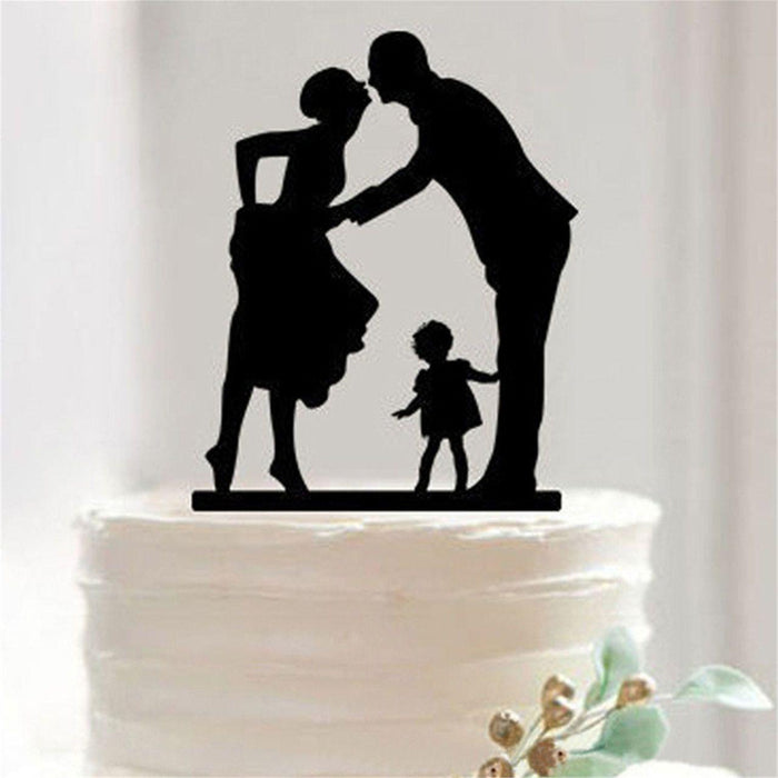 2 + 1 = 3 - Love - Wedding Cake Topper-Cake Toppers-Bakell- | Bakell.com