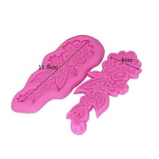 2pc Lace Flower Silicone Mold | 4 Inch from Bakell.com