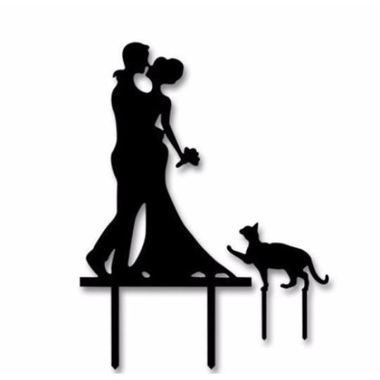 2 Plus 1 Wedding Cake Topper-Cake Toppers-Bakell- | Bakell.com