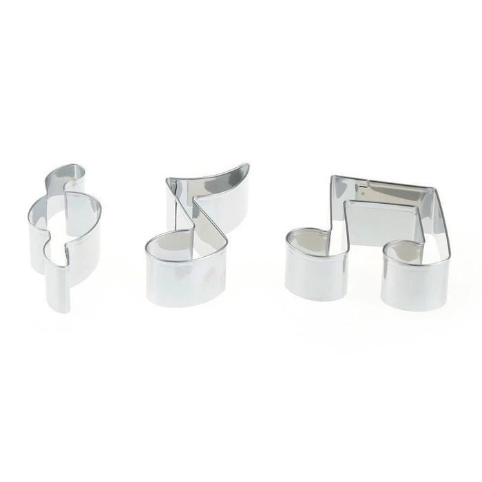 "2.5"" Music Themed 3 PC Set Metal Cookie Cutter-Cookie Cutters-Bakell"