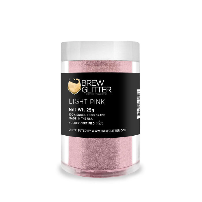 Soft Pink Edible Glitter for Beer & Drinks | Food Grade Brew Glitter-Beer Glitter-Bakell