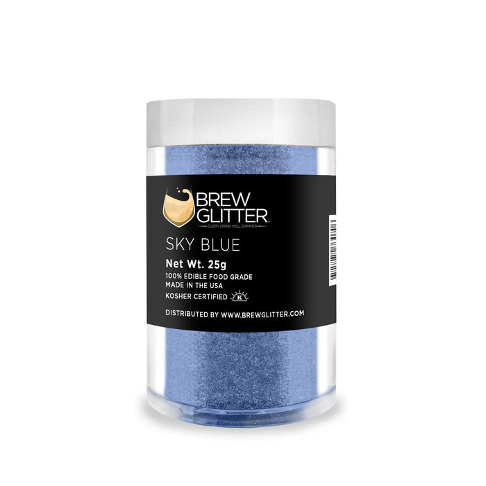 Soft Blue Edible Glitter for Beer & Drinks | Food Grade Brew Glitter-Beer Glitter-Bakell