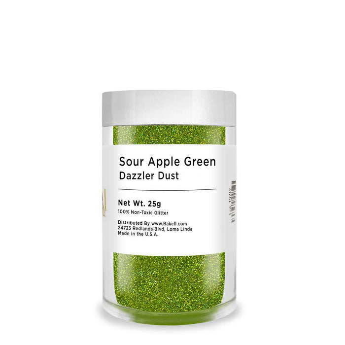 Sour Apple Green Decorating Dazzler Dust-Disco Dusts-Bakell