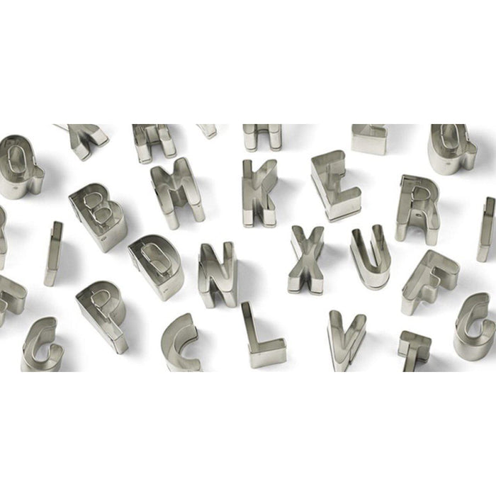 26 PC Set 1 Inch Tall Alphabet Font Cutouts Sugarcraft Cutters-Decorating Tools-Bakell- | Bakell.com