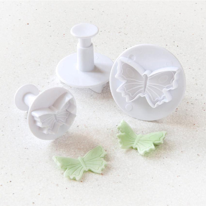 3 PC Butterfly Impression and Plunger Cutters Set-Decorating Tools-Bakell- | Bakell.com