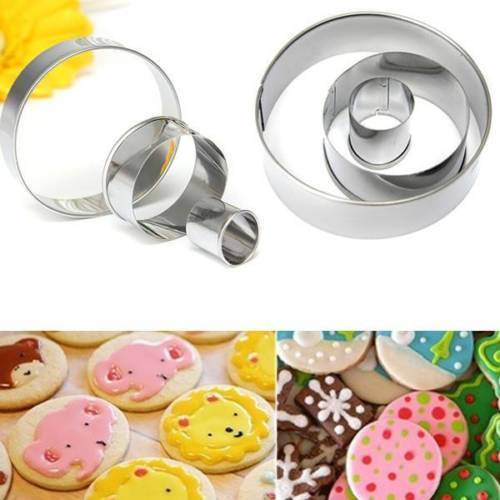 3 PC Circle Nesting Cookie Cutter-Cookie Cutters-Bakell- | Bakell.com