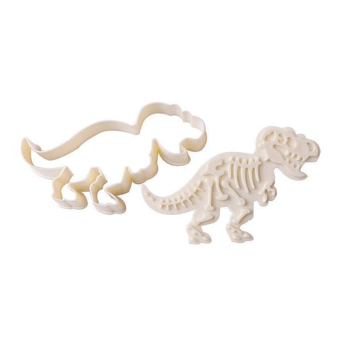 3 PC Dinosaur Impression Cookie Cutters-Cookie Cutters-Bakell- | Bakell.com