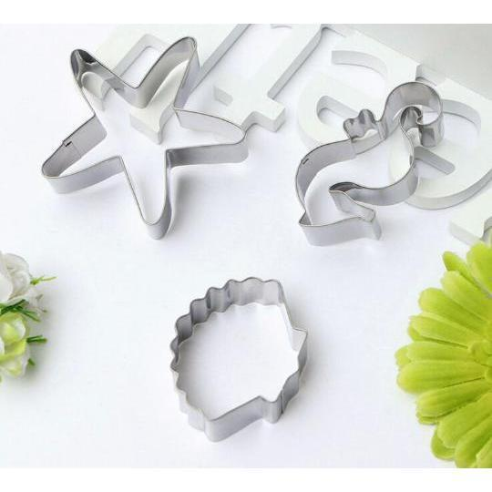 3 PC Sea Shells Cookie Cutter Set-Cookie Cutters-Bakell- | Bakell.com