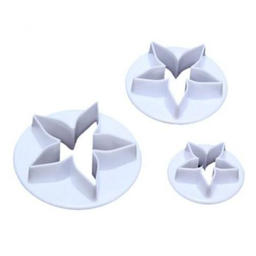 3 PC Set Starfish Flower Sugarcraft Cutters-Decorating Tools-Bakell- | Bakell.com