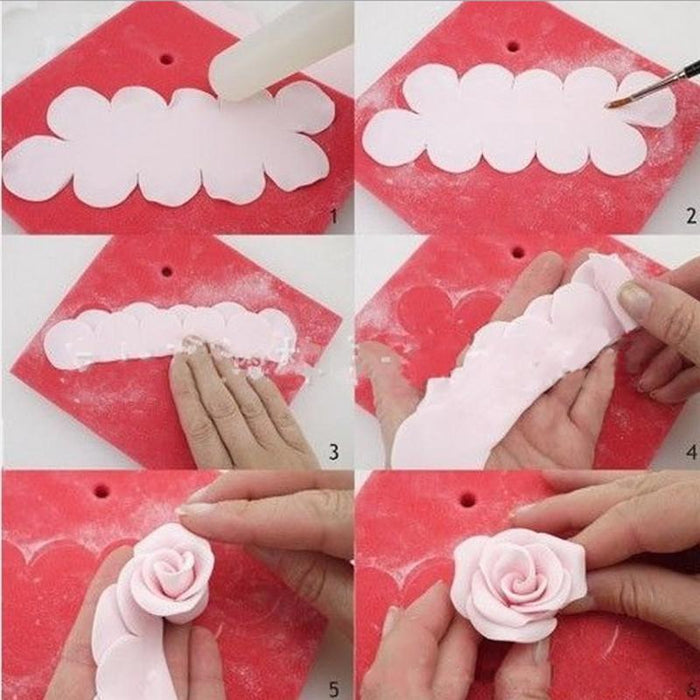 "3 PC Set ""The Easy Rose and Flower Cutter"" Sugarcraft-Decorating Tools-Bakell- 