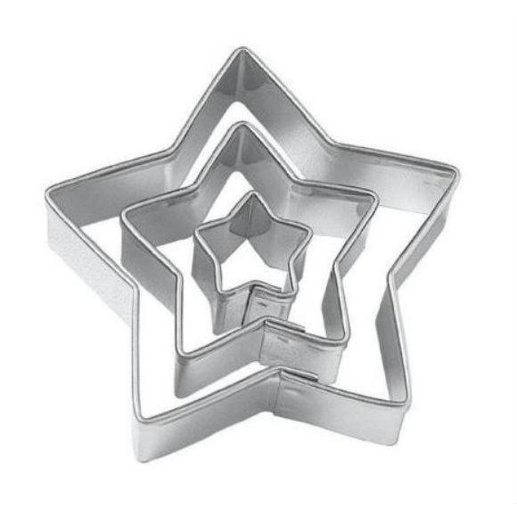 3 PC Star Nesting Cookie Cutter Set-Cookie Cutters-Bakell- | Bakell.com