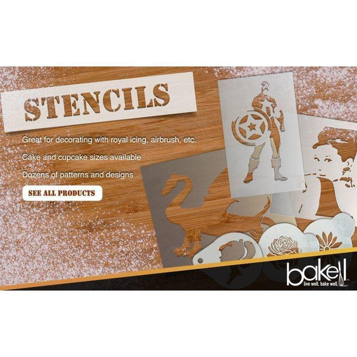 4 PC - Crown King Royalty Wise Men 2.75x2.75 Round Cupcake Stencils-Stencils-Bakell- | Bakell.com