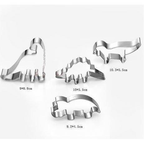 4 PC Dinosaur Cookie Cutters Set-Cookie Cutters-Bakell- | Bakell.com