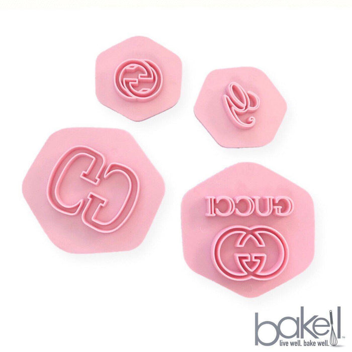 4 PC Fashion Embossing Impression Stamp Set | Bakell-Decorating Tools-Bakell