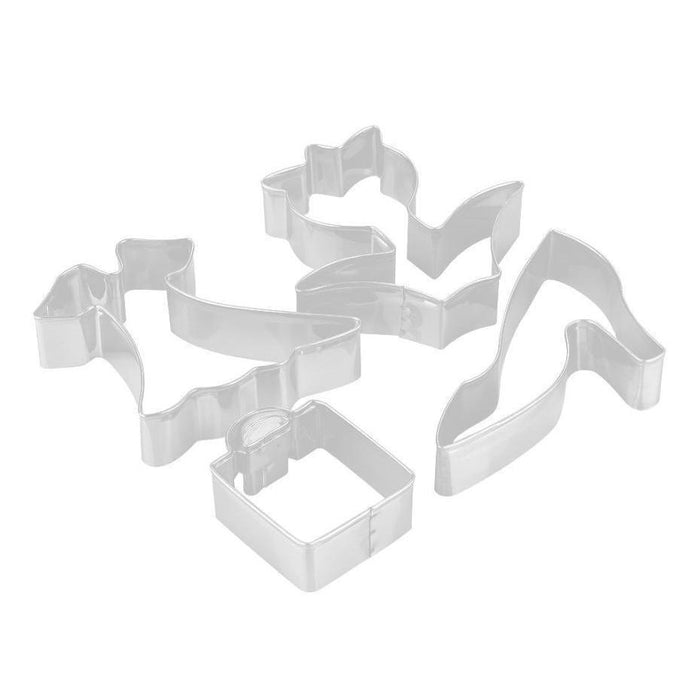 4 PC Spring and Mothers Day Cookie Cutter Set-Cookie Cutters-Bakell- | Bakell.com