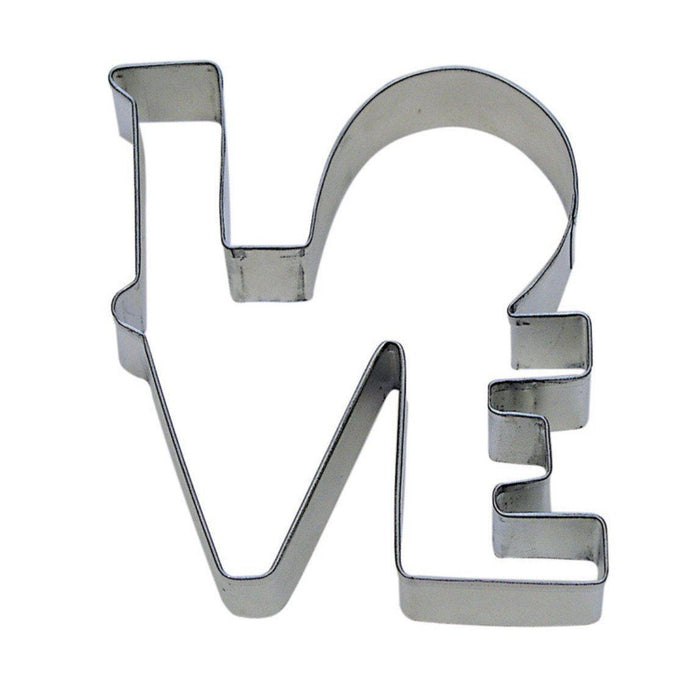 "4.5"" LOVE Metal Cookie Cutter-Cookie Cutters-Bakell"