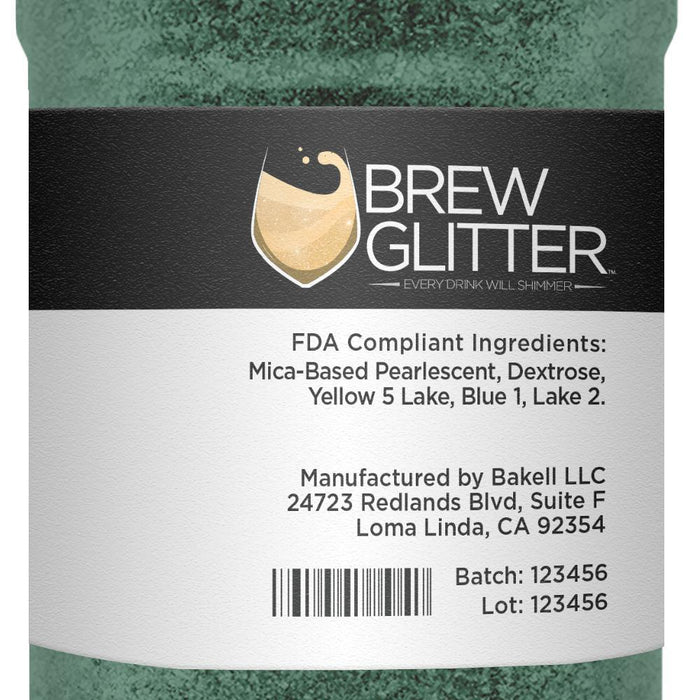 Dark Green Coffee & Latte Glitter-Latte Glitter-Bakell