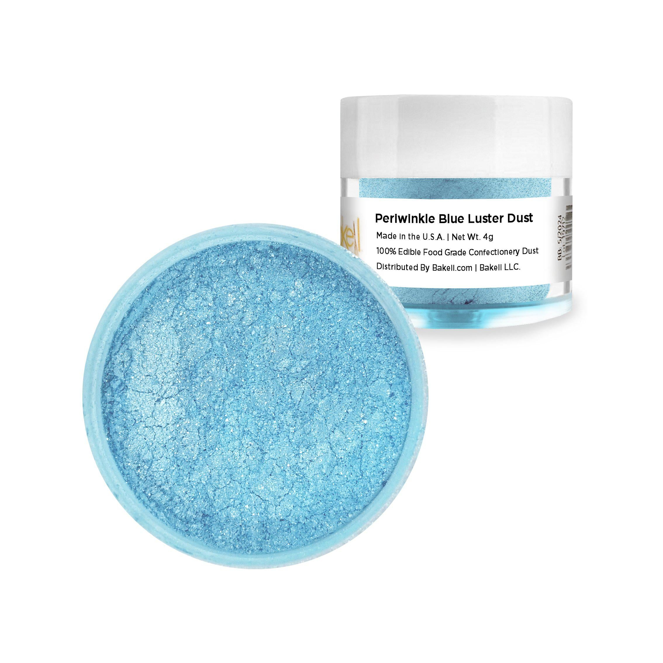 Periwinkle Blue Edible Luster Dust & Edible Paint | FDA Approved & Kosher Certified | Bakell® #1 site for FDA Compliant edible glitter & edible dust | Bakell.com