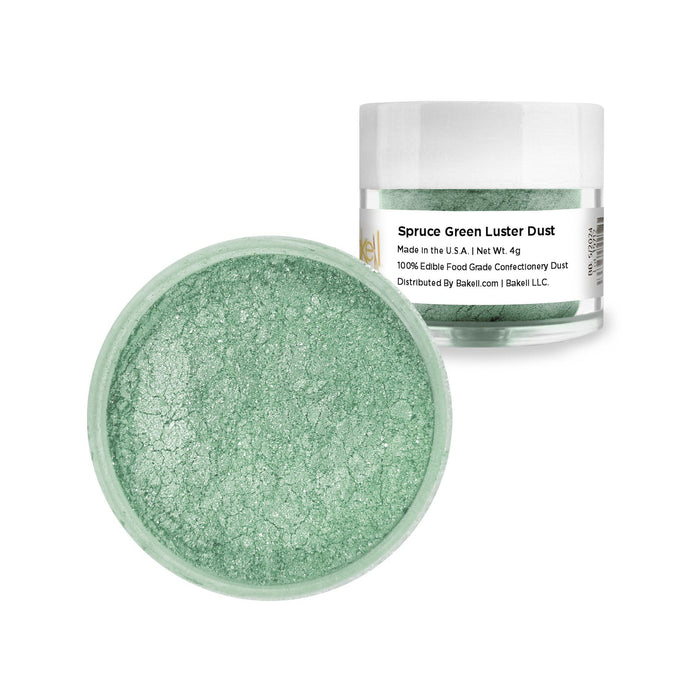 Spruce Green Edible Luster Dust | FDA Approved | Bakell® #1 site for FDA Compliant edible glitter & edible dust | Bakell.com