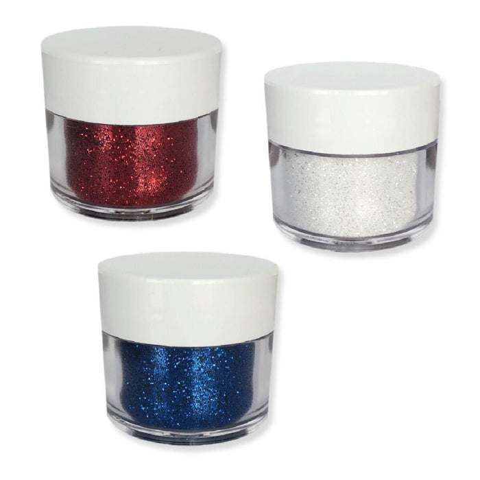 4th of July 3 Color Set! Red, White & Blue Decorating Dazzler Dust 5g Jar's | Bakell-Disco Dusts-Bakell