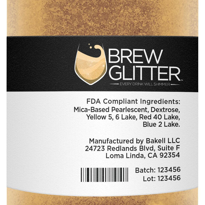 Gold Brew Glitter 4g Jar for Beer & Drinks-Beer Glitter-Bakell