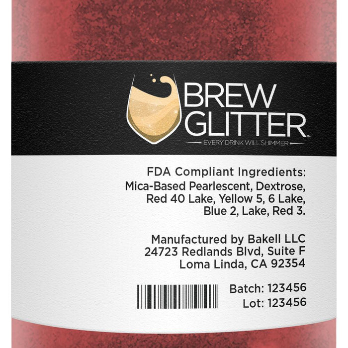 Maroon Cocktail Drink Glitter-Cocktail Glitter-Bakell