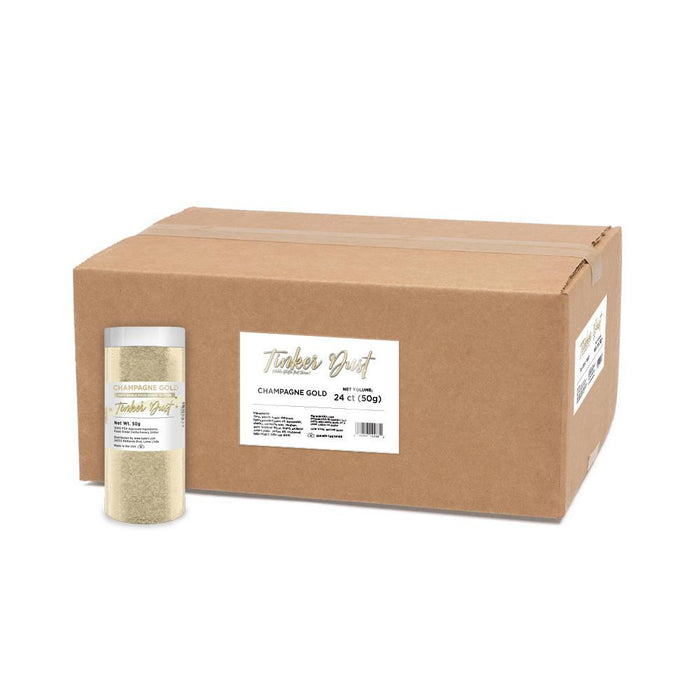 Champagne Gold Tinker Dust by the Case-Wholesale_Case_Tinker Dust-Bakell