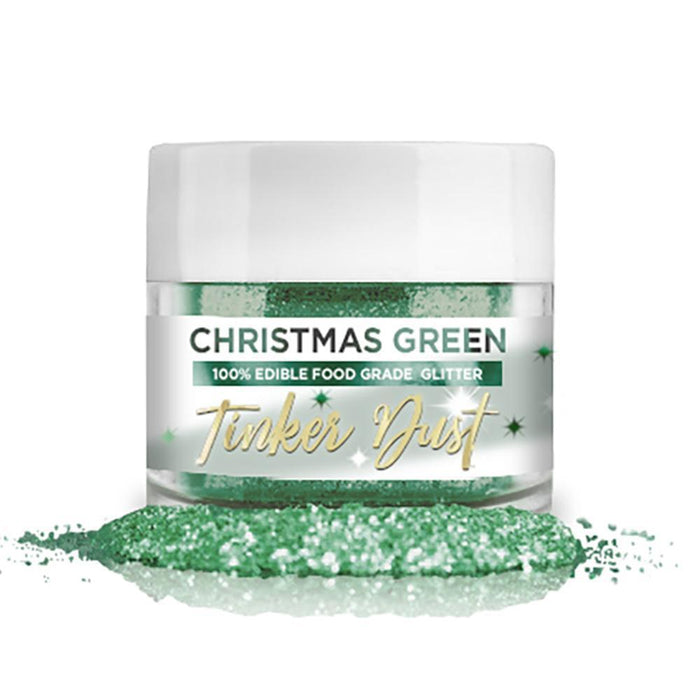 Christmas Green Tinker Dust Edible Glitter, 5g Jar | Food Grade Glitter-Tinker Dust-Bakell