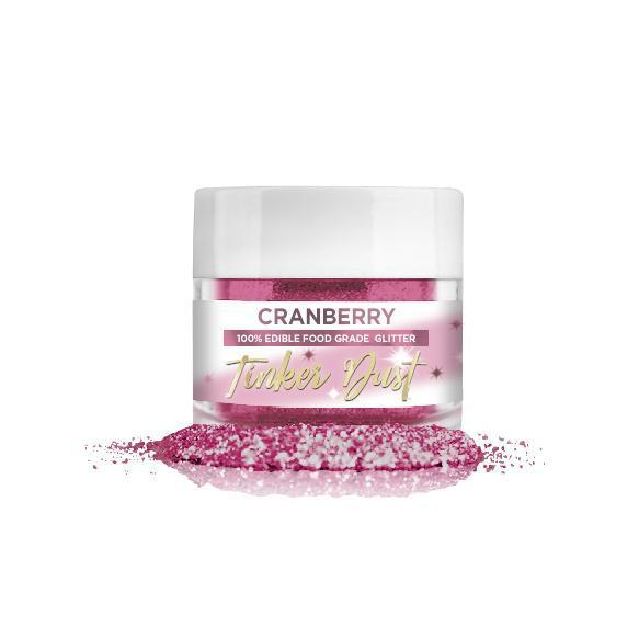 Cranberry Edible Glitter | FDA Approved Glitter Ingredients | 100% Edible Glitter | Tinker Dust® Glitter from Bakell® | Bakell.com