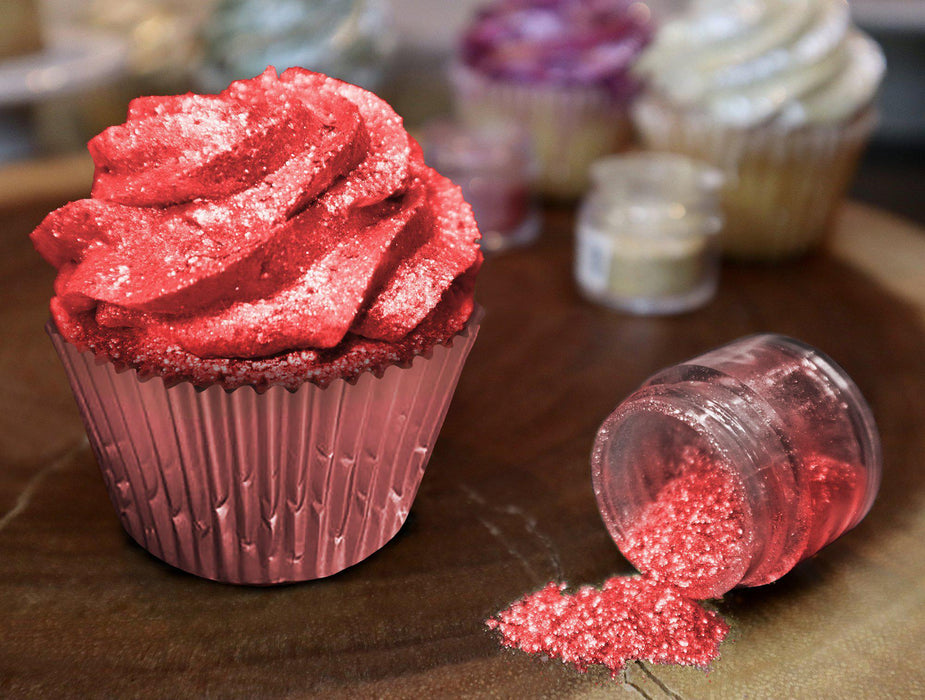Valentine's Day Edible Glitter Gift Pack | Red, White, Pink Edible Glitter | 100% Edible Glitter | FDA Approved Edible Glitter Gift Set | Bakell.com