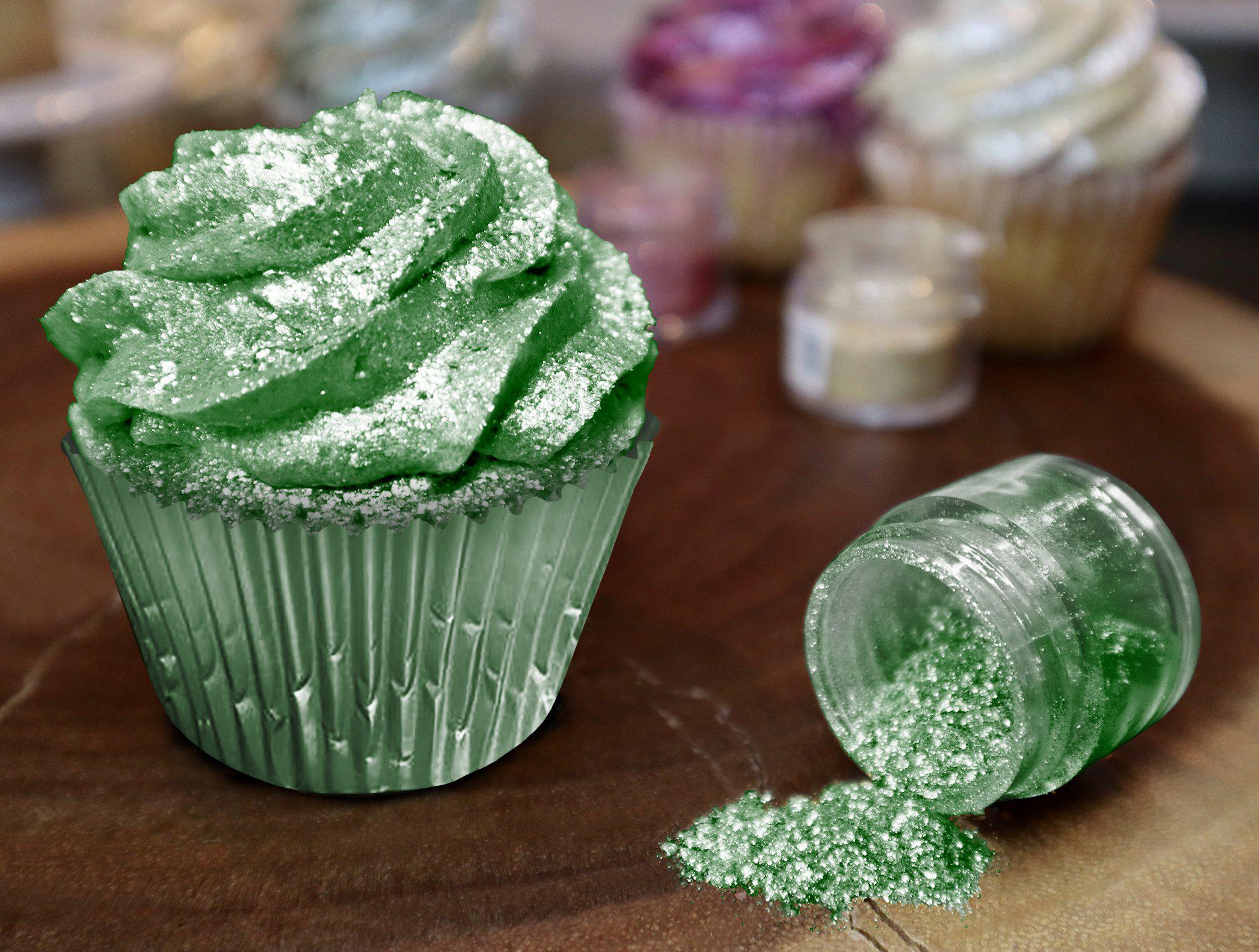 Green Edible Glitter | 100% Edible Tinker Dust  Edible Glitter | FDA Approved | #1 Site for Edible Glitter & Dust | Bakell.com