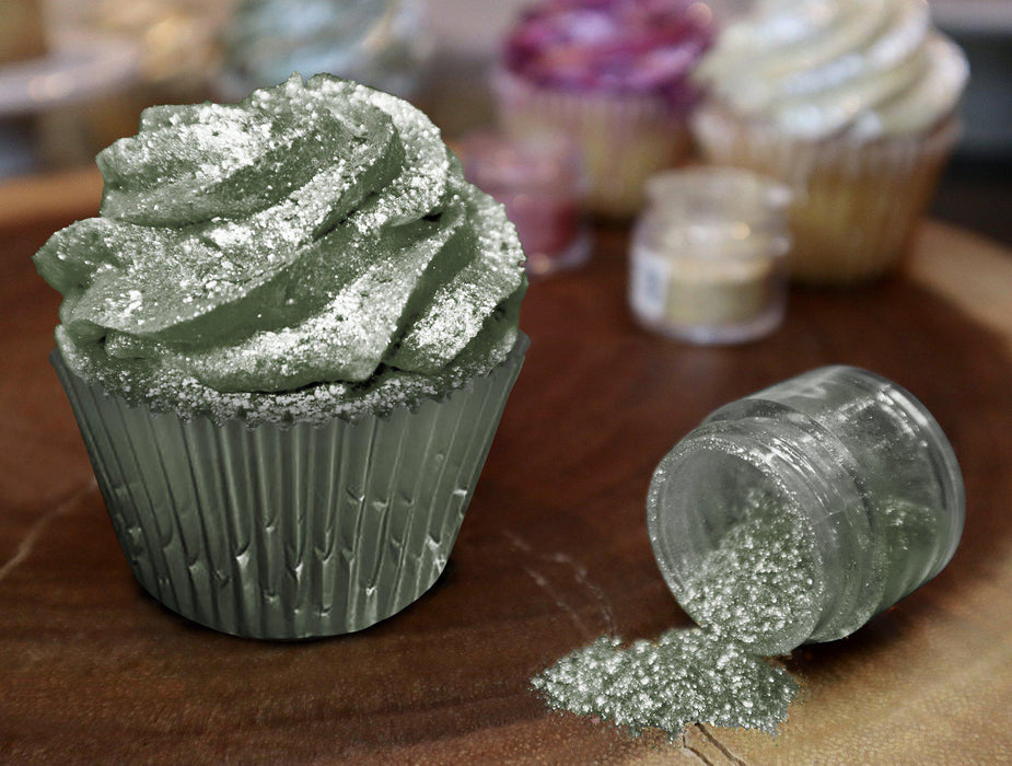 Olive Green Edible Glitter | FDA Approved Ingredients | 100% Edible | Tinker Dust | Bakell