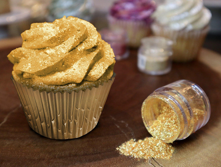 Royal Gold Edible Glitter | FDA Approved Ingredients | 100% Edible | Tinker Dust | Bakell