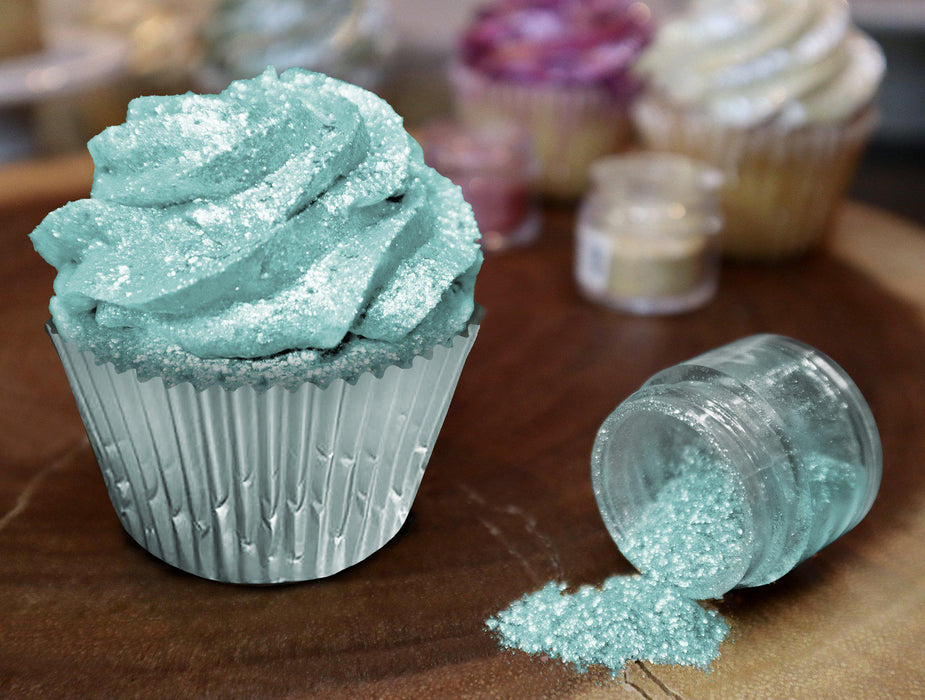Turquoise Edible Glitter | FDA Approved Ingredients | 100% Edible | Tinker Dust | Bakell