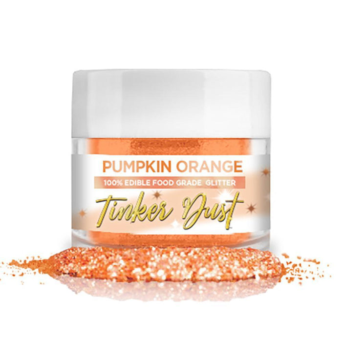 Pumpkin Orange Tinker Dust Edible Glitter, 5g Jar | Food Grade Glitter-Tinker Dust-Bakell