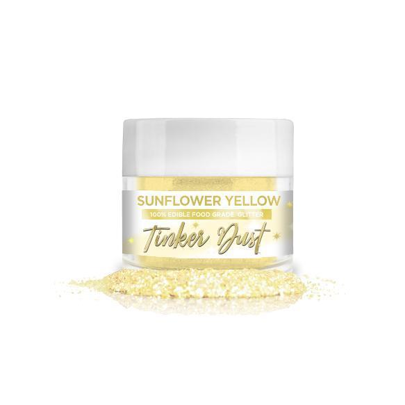 Sunflower Yellow Tinker Dust Edible Glitter, 5g | Food Grade Glitter-Tinker Dust-Bakell