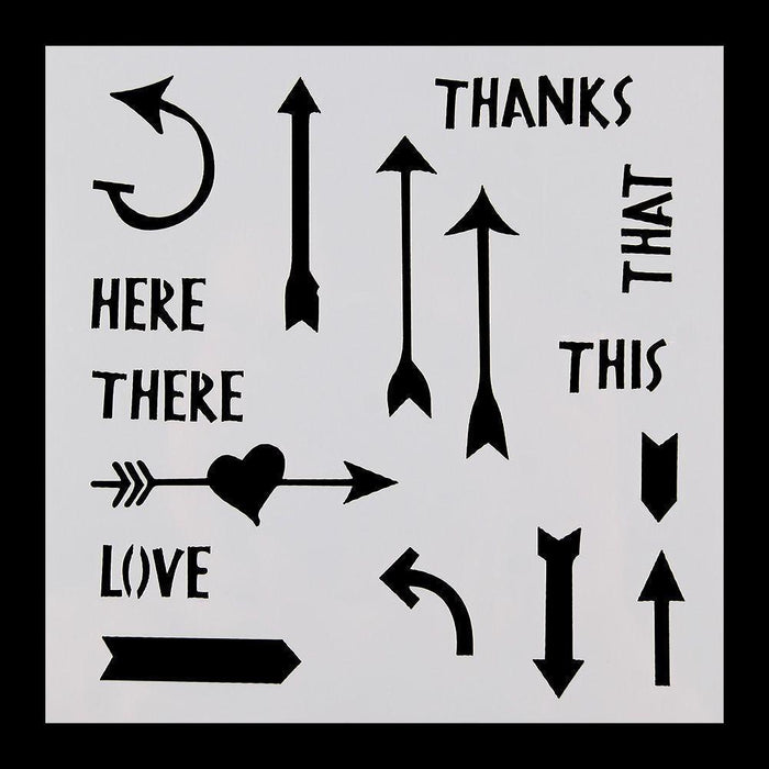 5x5 Arrows, Greetings, and Gestures Stencil-Stencils-Bakell- | Bakell.com