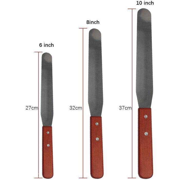 6 Inch Stainless Steel Spatula and Smoothing Tool-Decorating Tools-Bakell- | Bakell.com